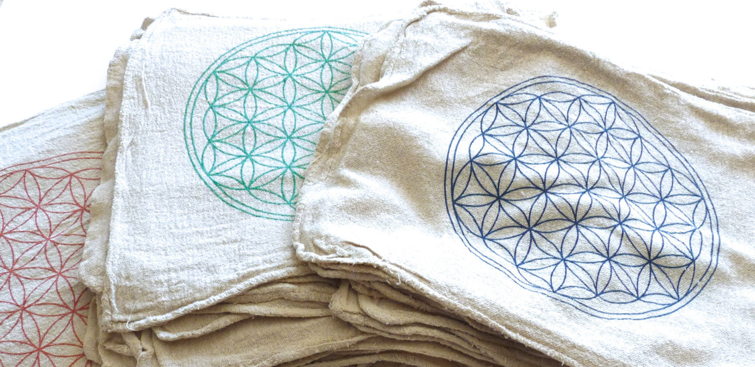 FLOWER OF LIFE -- crystal grid cloth