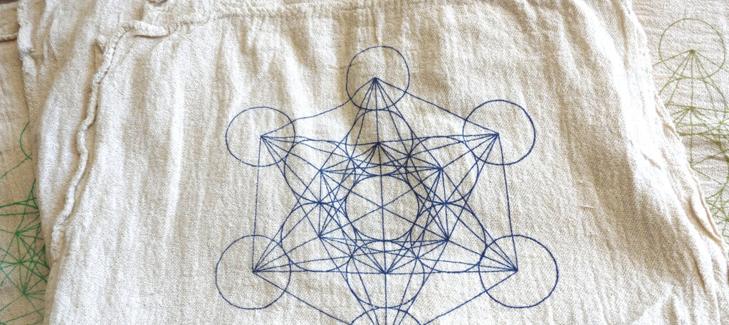 "METATRON""S CUBE -- Crystal Grid Cloth"