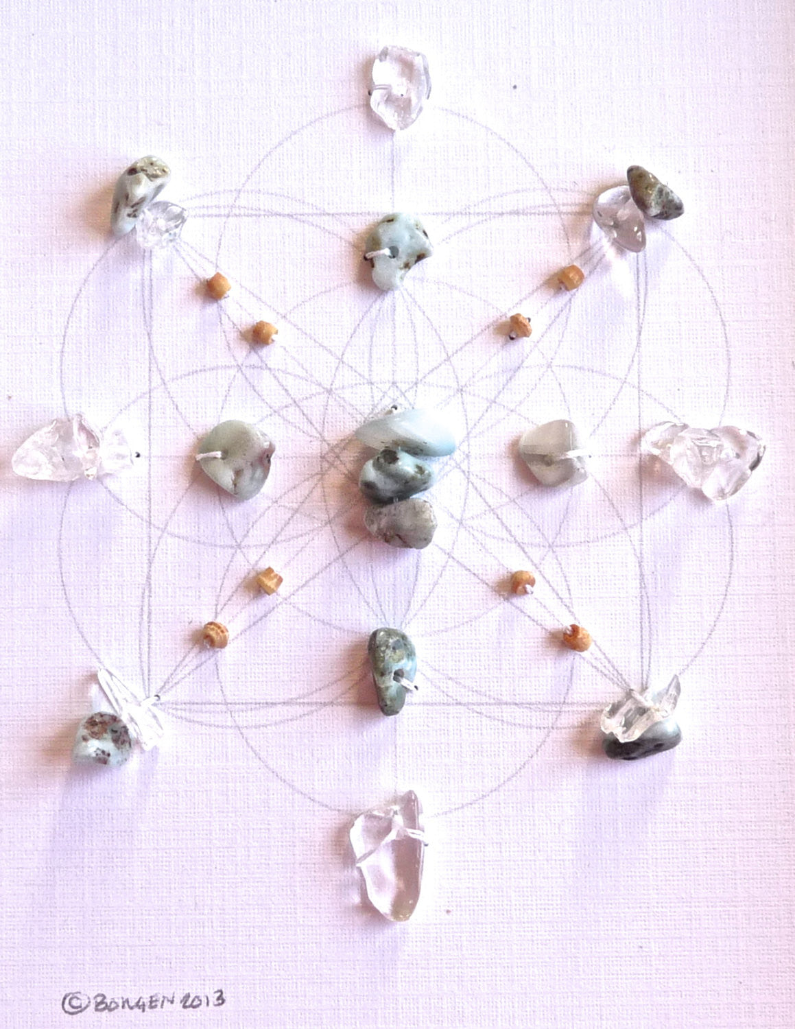LARIMAR -- framed crystal grid