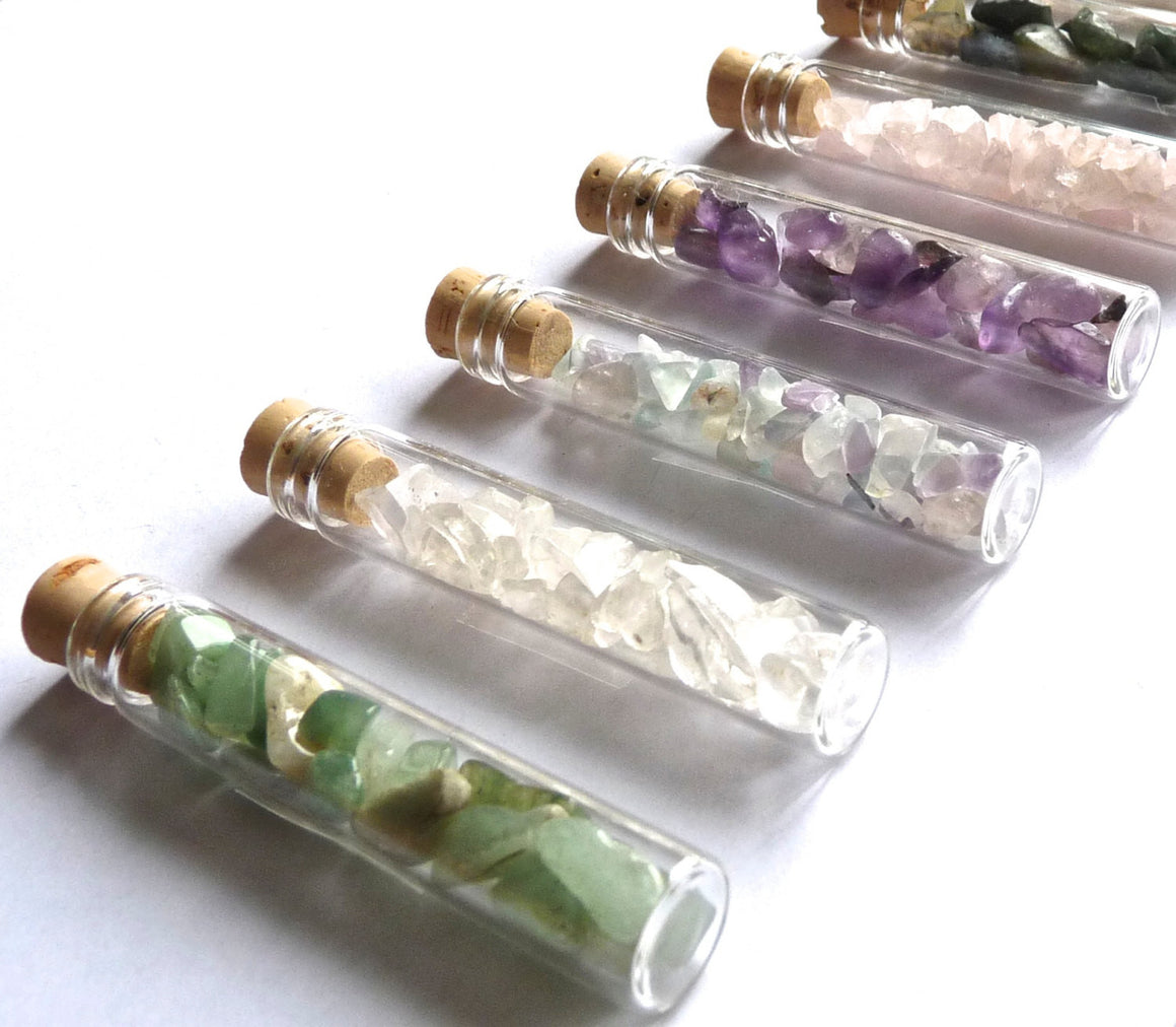 WISH STONES - gemstone bottle -- favor