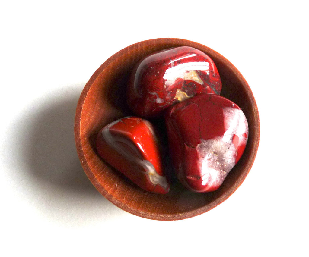 RED JASPER  CRYSTALS --- stones