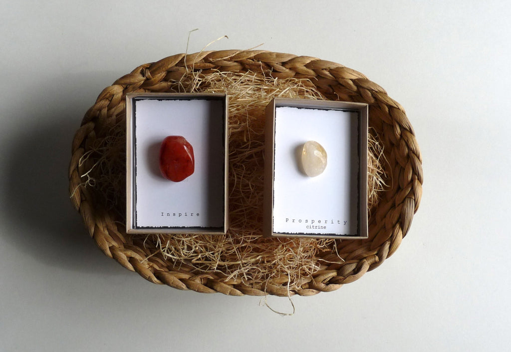 INTENTION STONE with gift box -- Set of 2 boxes