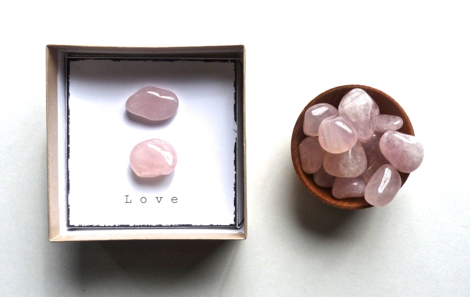 L O V E | ROSE QUARTZ - intention stone gift box