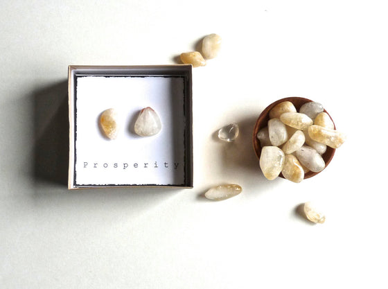 P R O S P E R I T Y - CITRINE -- intention stones with gift box