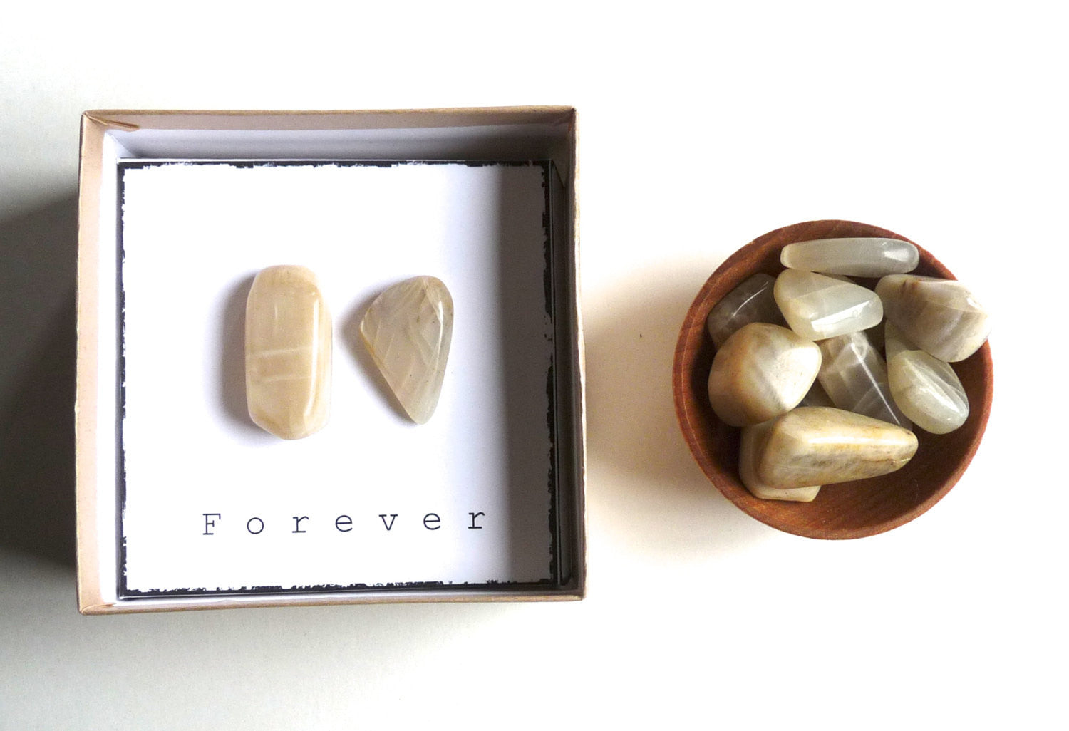 F O R E V E R | MOONSTONE - intention stone gift box