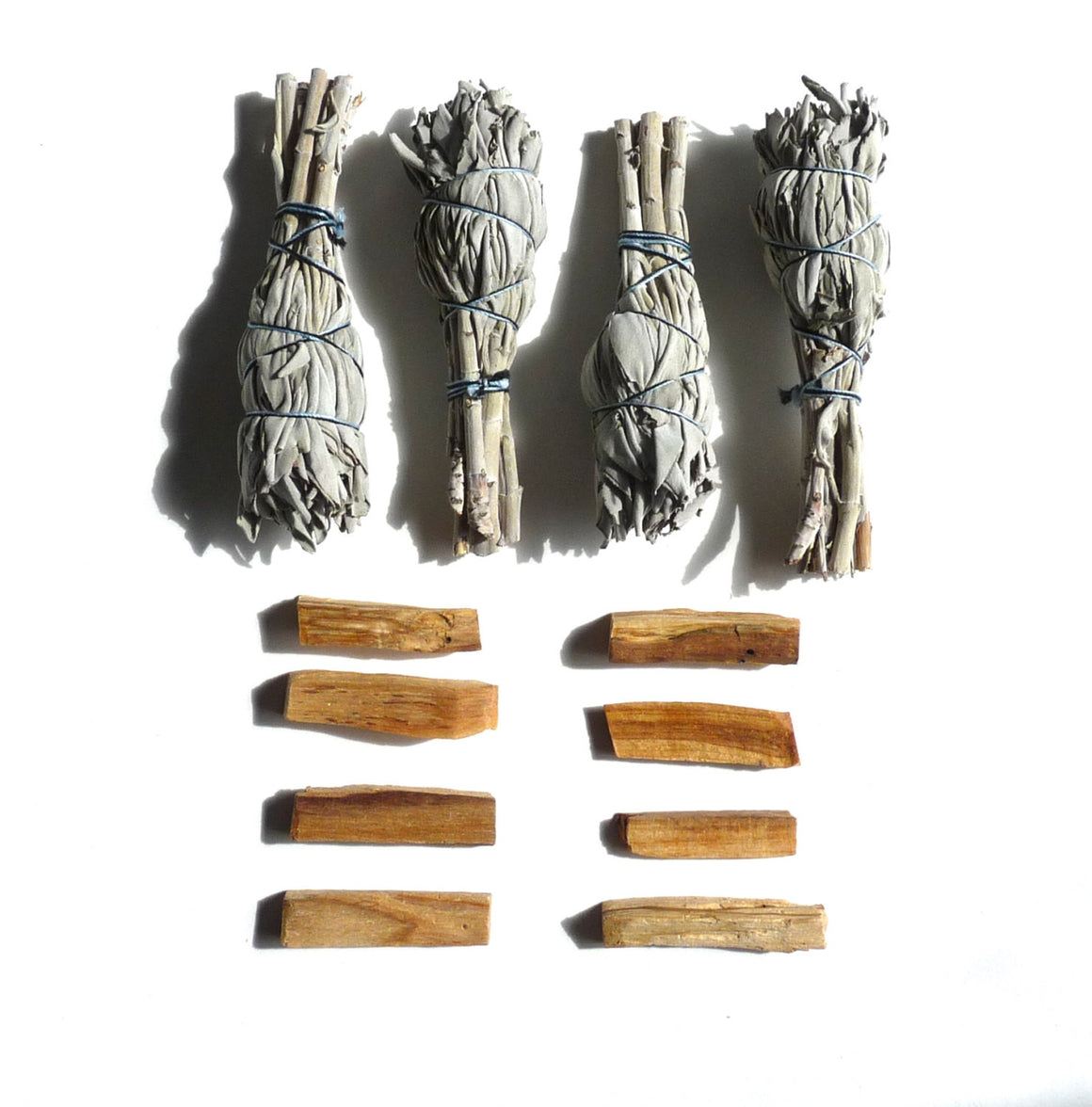 PALO SANTO & SAGE set - smudge stick, clearing tool