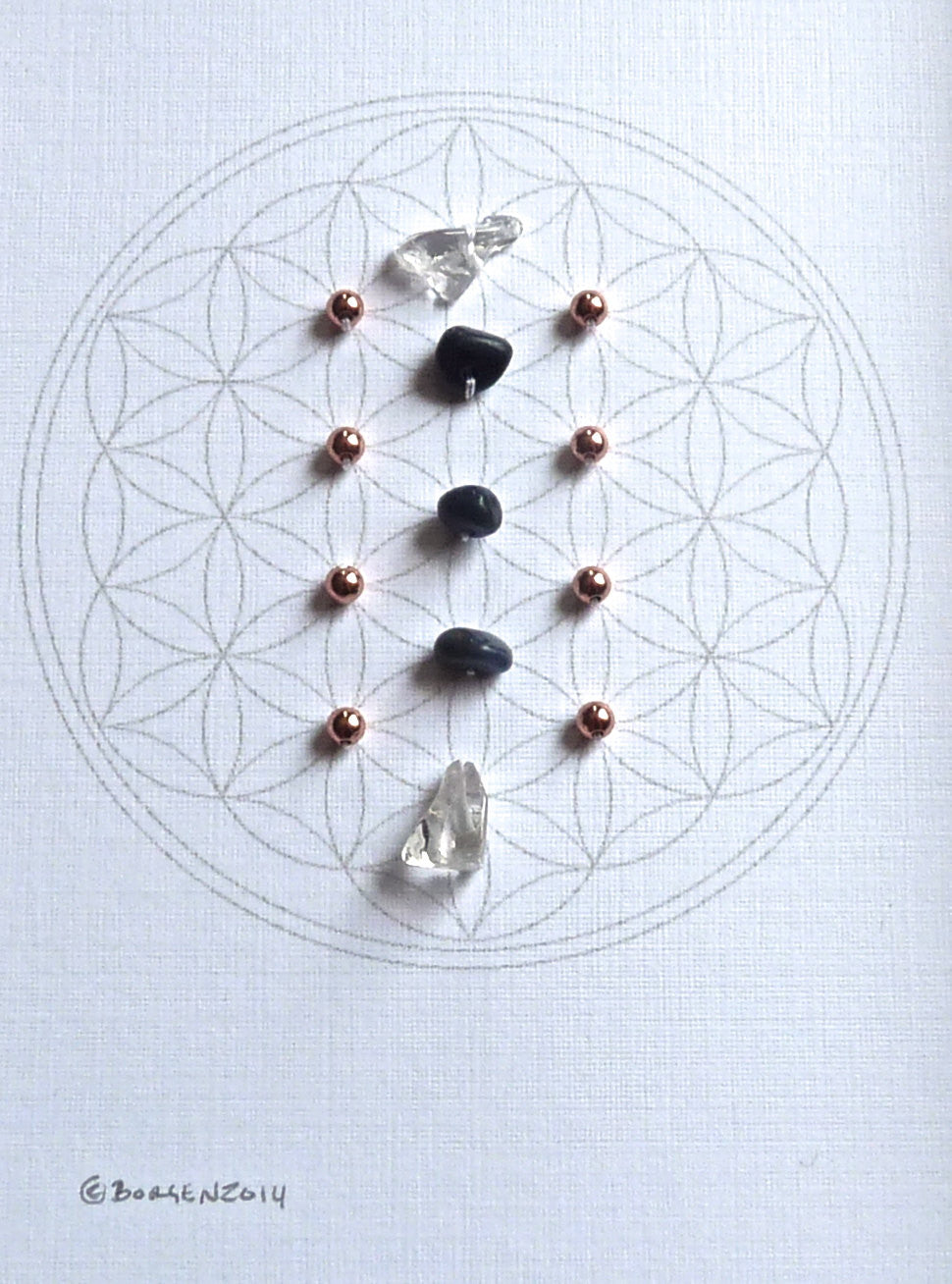 SEPTEMBER BIRTHSTONE -- framed crystal grid