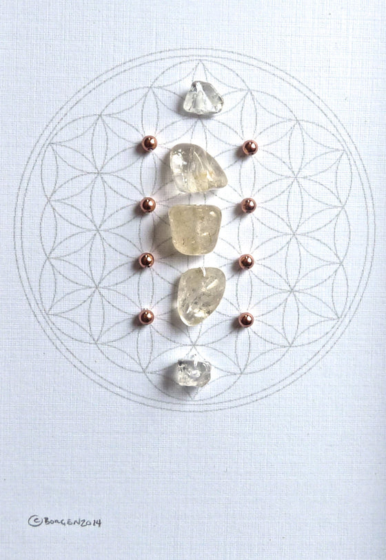 NOVEMBER BIRTHSTONE GRID -- framed crystal grid