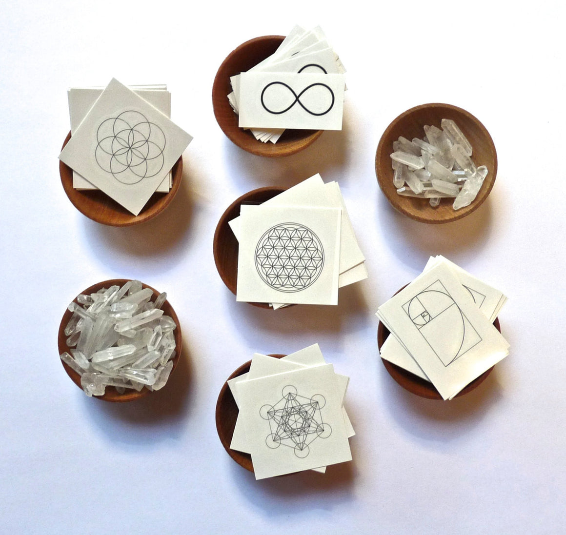 TEMPORARY TATTOOS -- Sacred Geometry Set