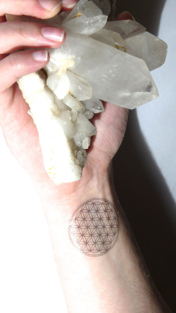 TEMPORARY TATTOO --- Flower of life--- Sacred Geometry--- stocking stuffer