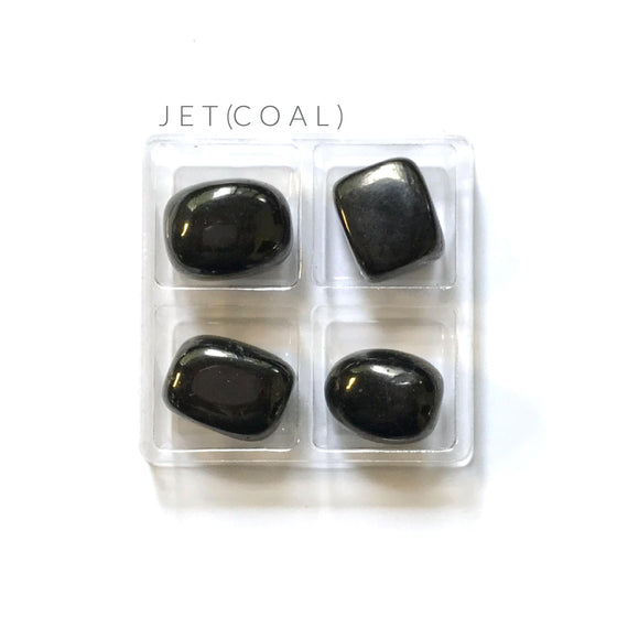 JET (COAL) --- tumbled stones--- crystal grid supplies