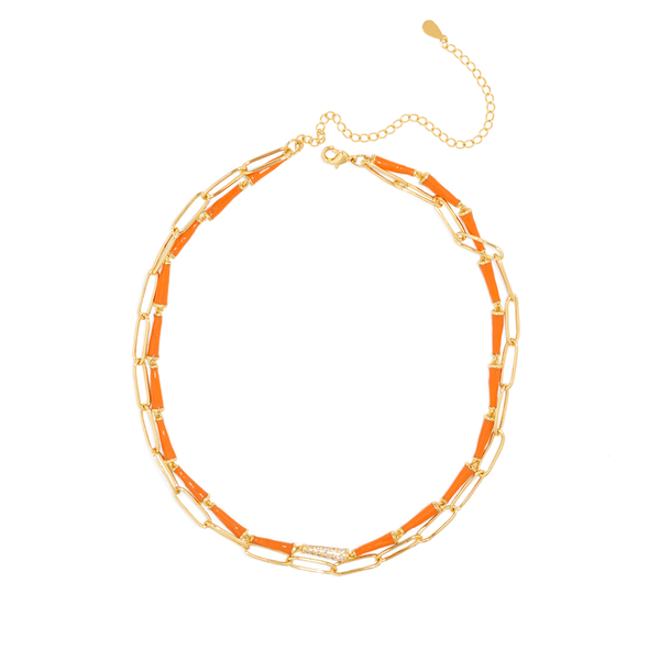 ORANGE POP DUAL NECKLACE