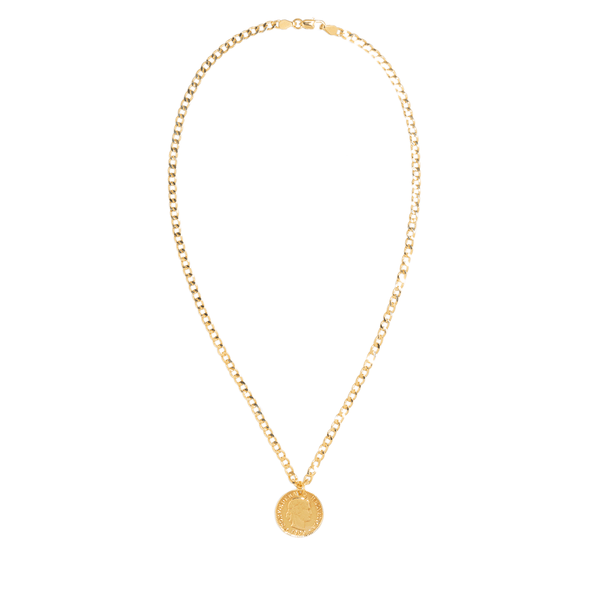 HELVETICA COIN NECKLACE