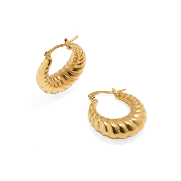 CROISSANT BOLD HOOPS