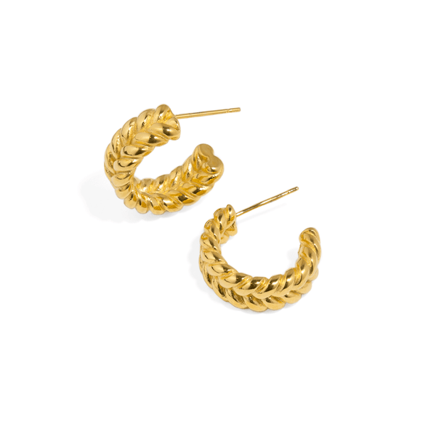 GOLDEN BRAID HOOPS