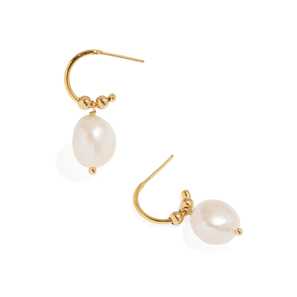 MARINA SINGLE PEARL HOOPS