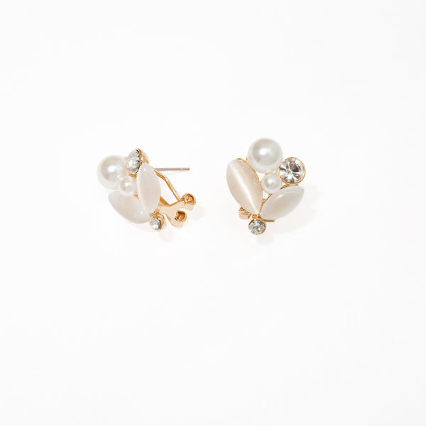 WHITE GALA EARRINGS