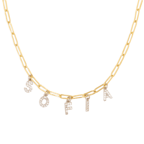 SPARK NAME CLIP NECKLACE