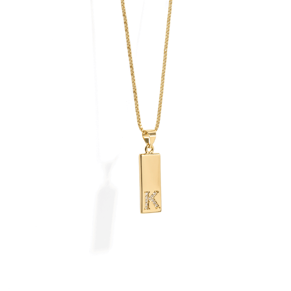 LETTER ROD NECKLACE