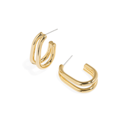 TWIN LINK EARRINGS