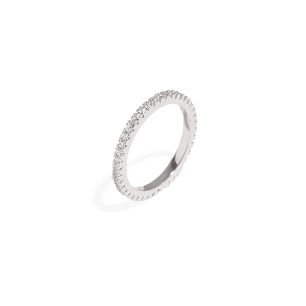 MOISSANITE ETERNITY BAND RING