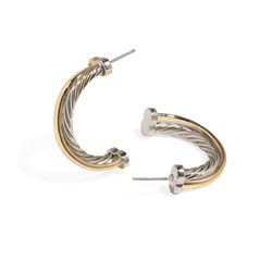FERRARA DUO TWIST HOOPS