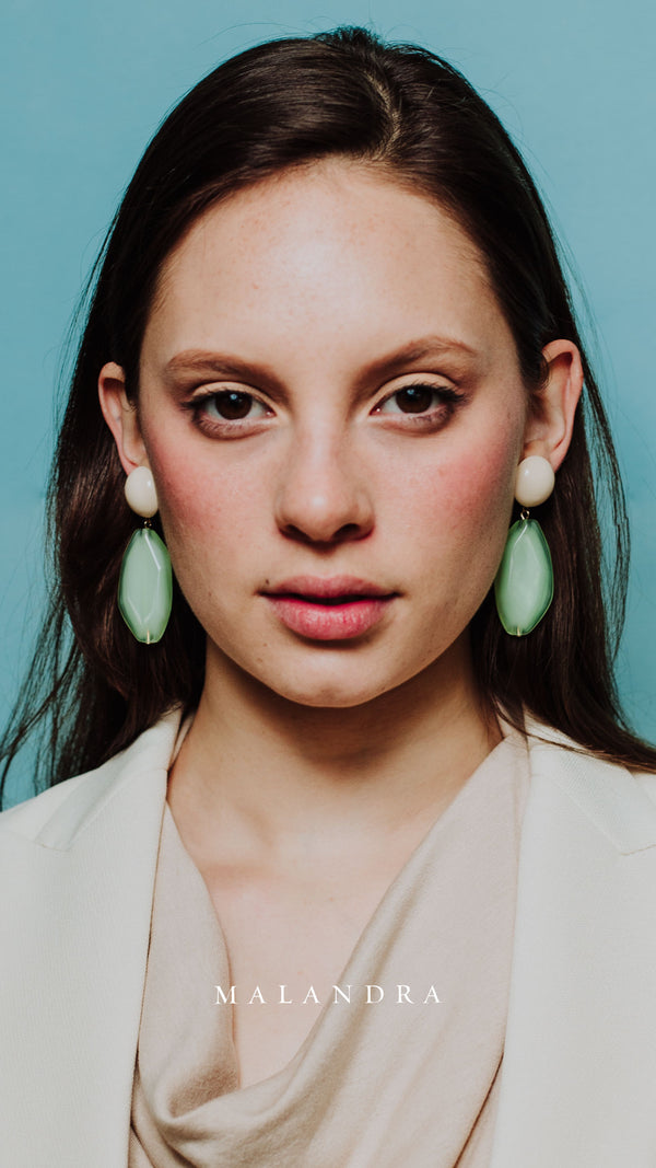 MENTHE & BLANC EARRINGS