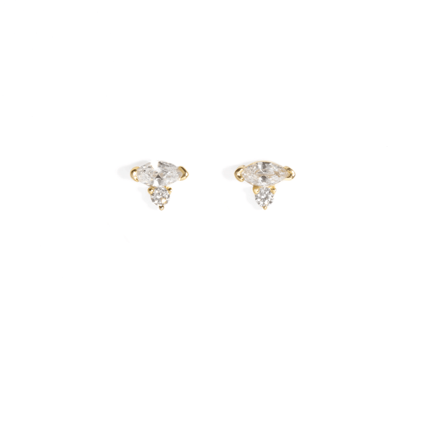 AVA CLEAR STUDS