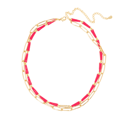 MAGENTA POP DUAL NECKLACE