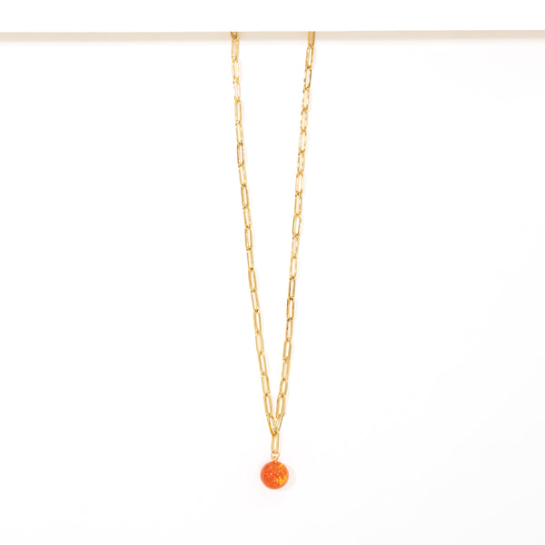 SINGLE ORANGE NECKLACE