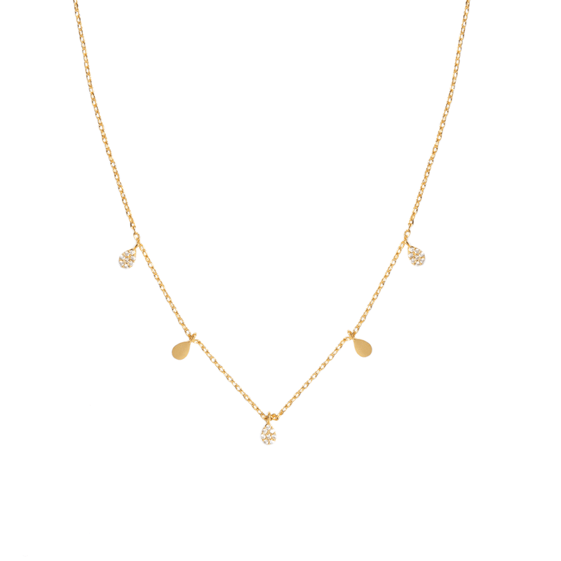 SKINNY SPARK DROPS NECKLACE