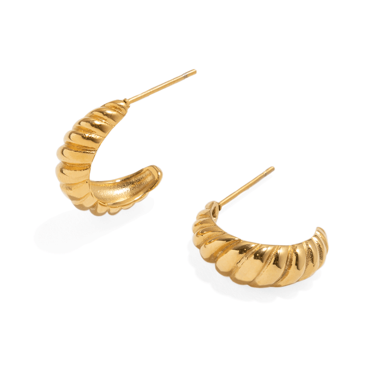 CROISSANT GOLDEN SMALL HOOPS