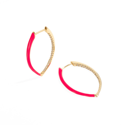 MAGENTA POP OVAL HOOPS