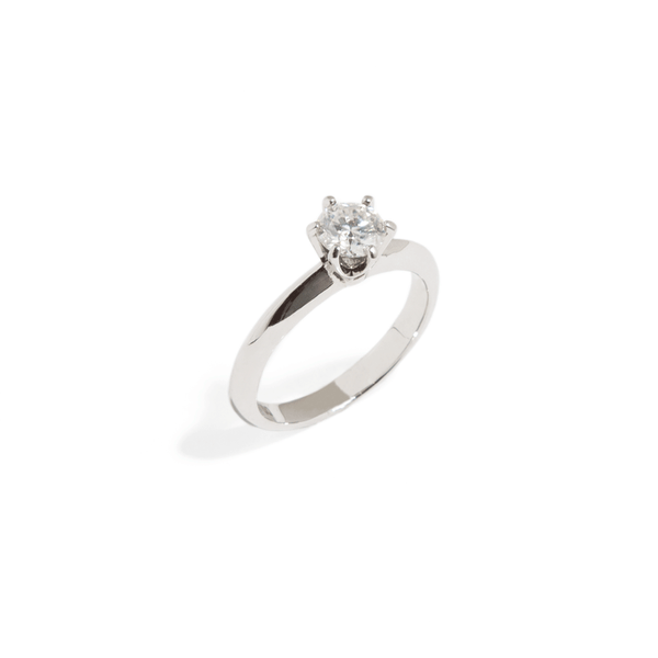 SOLITAIRE BRIDAL RING - 0.5CT