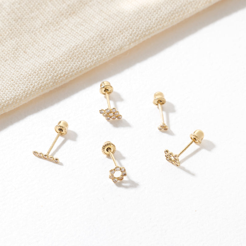 SQUARE GOLD PIERCING