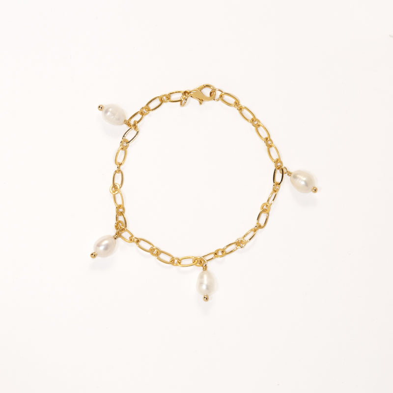PEARL CHARMS BRACELET