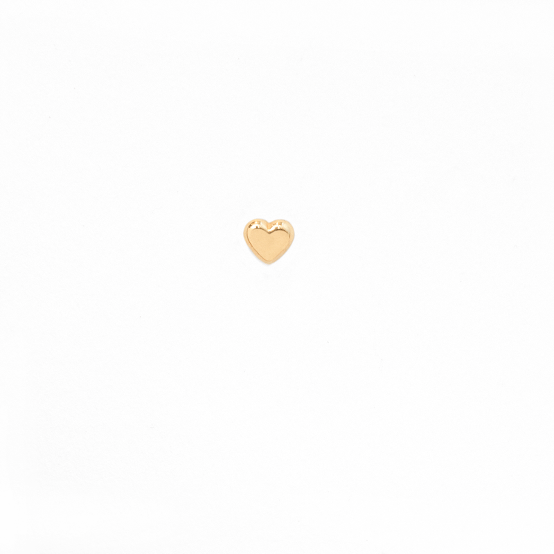 SINGLE HEART GOLD PIERCING