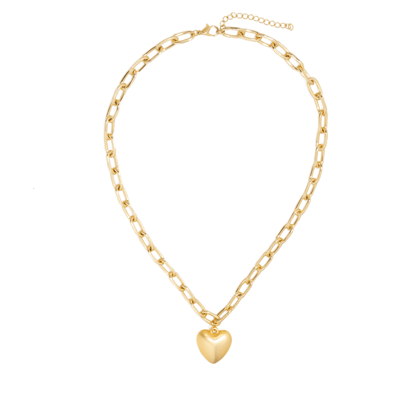 VERONA HEART LINK NECKLACE
