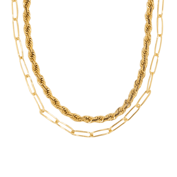 TWIST & CLIP GOLDEN NECKLACE