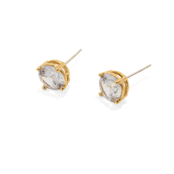 LONE CRYSTAL MEDIUM STUDS