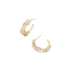 GOLDEN BAGUETTE HOOPS