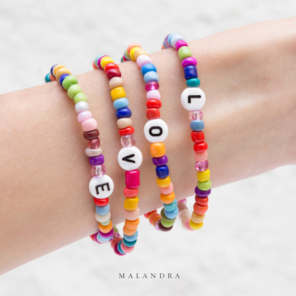COLOR BEAD LETTER BRACELET