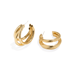 TRIPLE BOLD HOOPS
