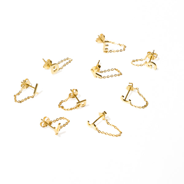 LETTER CHAIN STUDS
