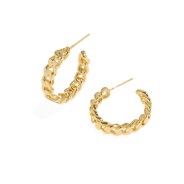 CUBAN CHAIN HOOPS