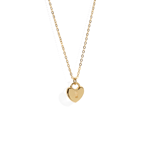 HEART PADLOCK NECKLACE
