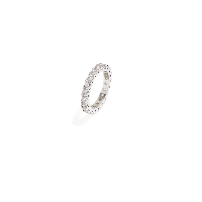 ROUND SILVER RING BAND