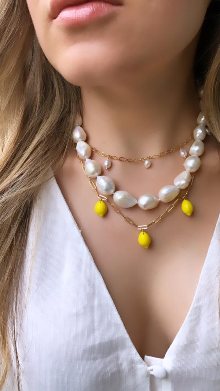 LEMON LINK NECKLACE