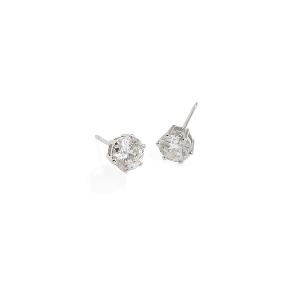 SOLITAIRE BRIDAL EARRINGS - 1ct