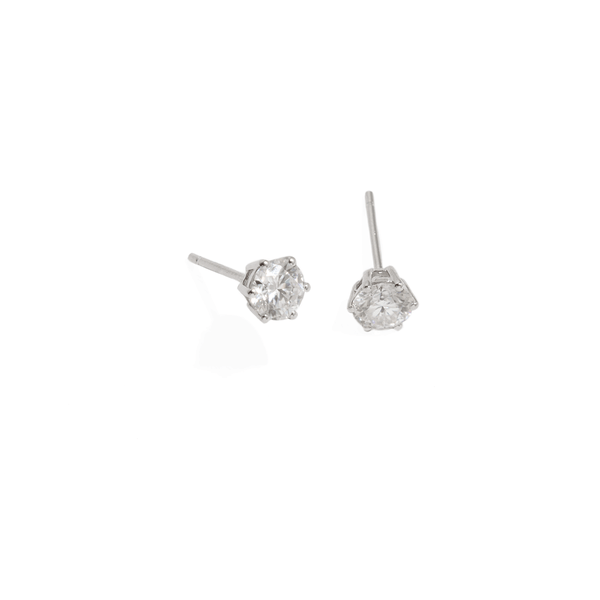 SOLITAIRE BRIDAL EARRINGS